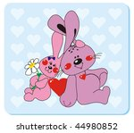 rabbits in love 2. vector... | Shutterstock .eps vector #44980852