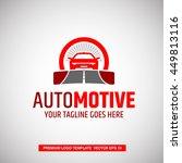 automotive logo concept. vector ... | Shutterstock .eps vector #449813116
