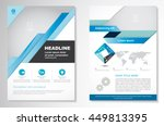 vector brochure flyer design... | Shutterstock .eps vector #449813395