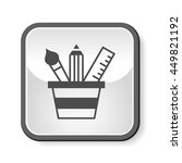 pencil and ruler icon | Shutterstock .eps vector #449821192