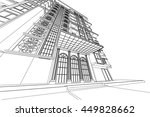architecture abstract  3d... | Shutterstock . vector #449828662