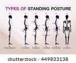 bone standing posture all   Shutterstock .eps vector #449833138