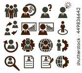 businessman icon set | Shutterstock .eps vector #449836642