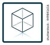 cube with projection icon.... | Shutterstock .eps vector #449841616