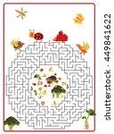funny maze game for preschool... | Shutterstock . vector #449841622