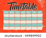 timetable calligraphy ... | Shutterstock .eps vector #449849902