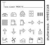 travel element line icon set 13....