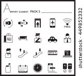 airport element graph icon set... | Shutterstock .eps vector #449852332
