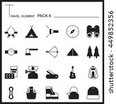 travel element graph icon set 6....