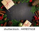 Christmas Or New Year Dark...