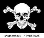 human skull with crossbones...   Shutterstock .eps vector #449864026