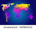 world map.  | Shutterstock .eps vector #449869132