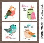 set of cute cartoon birds   Shutterstock .eps vector #449869366