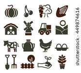 farm icon set | Shutterstock .eps vector #449874616