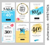set of season sale banner... | Shutterstock .eps vector #449874826
