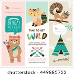 Set Of Greeting Card And...