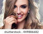 beauty portrait of elegant... | Shutterstock . vector #449886682