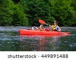 Family On Kayaks And Canoe Tour....