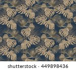 seamless  pattern with tropical ... | Shutterstock .eps vector #449898436