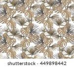 tropical leaves. exotic...   Shutterstock .eps vector #449898442