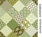 seamless patchwork tile with... | Shutterstock .eps vector #449898892
