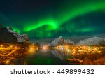 magnificent nothern lights over ... | Shutterstock . vector #449899432