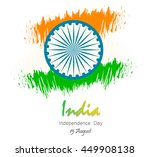 india independence day. 15 th... | Shutterstock .eps vector #449908138