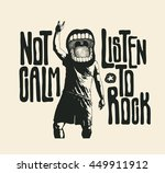 design not calm listen to rock... | Shutterstock .eps vector #449911912