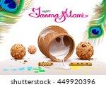 holiday symbols krishna...   Shutterstock .eps vector #449920396