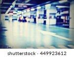 blurred image  parking garage   ... | Shutterstock . vector #449923612