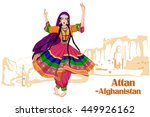 vector design of afghani woman... | Shutterstock .eps vector #449926162