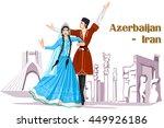 vector design of irani couple...   Shutterstock .eps vector #449926186