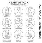 heart attack warning signs...   Shutterstock .eps vector #449929792