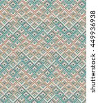 colorful ethnic geometric... | Shutterstock .eps vector #449936938
