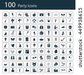 set of one hundred party icons | Shutterstock .eps vector #449938615