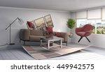 zero gravity sofa hovering in... | Shutterstock . vector #449942575