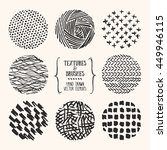 hand drawn textures and brushes.... | Shutterstock .eps vector #449946115