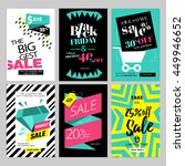 set of eye catching web banners ... | Shutterstock .eps vector #449946652