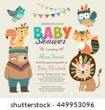 baby shower invitation | Shutterstock .eps vector #449953096