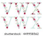 cute vintage alphabet letters... | Shutterstock .eps vector #449958562