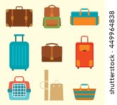 different types of baggage.... | Shutterstock .eps vector #449964838