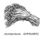 sheaf of wheat engraving ... | Shutterstock .eps vector #449964892