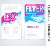 abstract vector brochure logo... | Shutterstock .eps vector #449968456