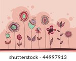 lovely flower doodles | Shutterstock .eps vector #44997913
