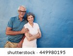 portrait of happy mature couple ... | Shutterstock . vector #449980195
