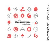 set with icons   abstract...   Shutterstock .eps vector #449985772