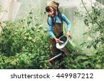child gardener. | Shutterstock . vector #449987212