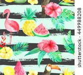 seamless pattern with... | Shutterstock . vector #449988208
