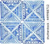 watercolor tribal batik...   Shutterstock . vector #449988712