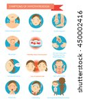 symptoms of the disease... | Shutterstock .eps vector #450002416